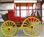 Mud-wagon type Stage Coach